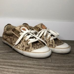 Coach Snake Print Sneakers